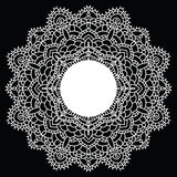 Crochet lace mandala. Stock Images