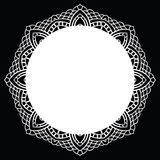 Crochet lace mandala. Royalty Free Stock Photo