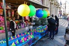 Crochet-le-canard à la fête foraine Image libre de droits