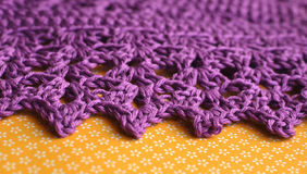Crochet line picot background Stock Images