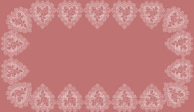 Crochet love background Royalty Free Stock Photo