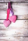 Crochet lovely hearts Stock Photography