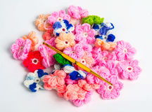 Crochet materials Stock Image