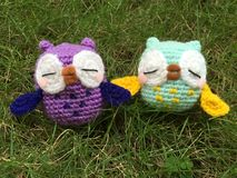 Crochet owl Royalty Free Stock Photography