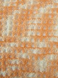 Crochet pattern background in coral Royalty Free Stock Image