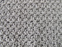 Crochet pattern background in grey Royalty Free Stock Photography