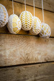 Crochet pattern Easter eggs Royalty Free Stock Images