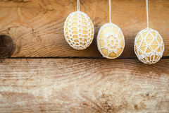 Crochet pattern Easter eggs Royalty Free Stock Photo