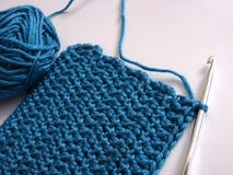 Crochet pattern and hook royalty free stock images