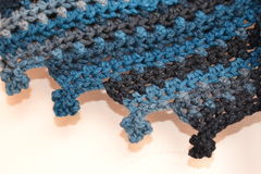 Crochet picot flowers background Stock Photography