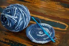 Crochet potholder Royalty Free Stock Photo