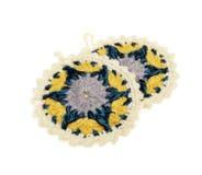 Crochet potholders Stock Images