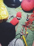 Crochet process. Royalty Free Stock Image