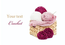 Crochet setting Royalty Free Stock Image