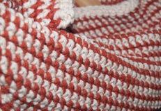 Crochet single stitch rows Royalty Free Stock Photo