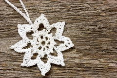 Crochet  snowflake Royalty Free Stock Photos