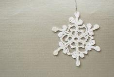 Crochet snowflake Stock Images