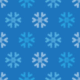 Crochet snowflakes seamless pattern. Endless background for your winter design Stock Photography