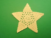 Crochet star Stock Image