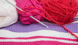 Crochet still life Stock Image