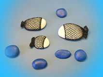 Crochet stone fish Stock Images