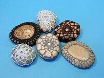 Crochet stones Royalty Free Stock Photography