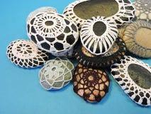 Crochet stones Royalty Free Stock Photos