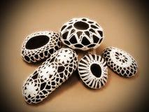 Crochet stones Stock Image