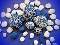 Crochet stones pattern Stock Images