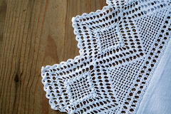 Crochet tablecloth Stock Images