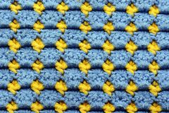 Crochet texture of handmade oven cloth Stock Images