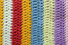 Crochet texture of handmade oven cloth Royalty Free Stock Photos
