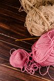 Crochet with two ball of yarn Stock Photography