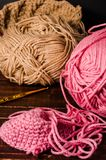 Crochet with two ball of yarn Stock Photo