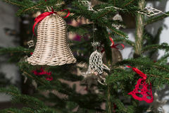 Crochet typical bell Christmas ornament in Bohemia royalty free stock photography