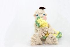 Crocheted Baby Doll Royalty Free Stock Photos