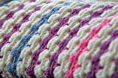 Crocheted blanket stitches Stock Photos