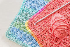Crocheted Dishcloth Royalty Free Stock Image