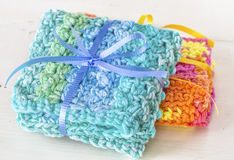 Crocheted Dishcloths Stock Photos