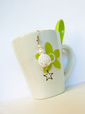 Crocheted earring stock image