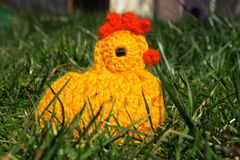 Crocheted Easter Chicken Royalty Free Stock Images