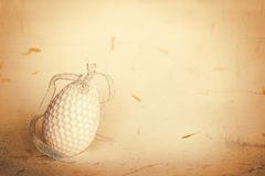 Crocheted egg Royalty Free Stock Images