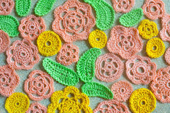 Crocheted flower Stock Photos