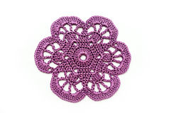Crocheted flower Stock Images