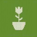 Crocheted flower Stock Photo