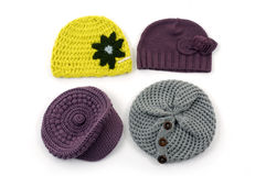 Crocheted hat Royalty Free Stock Photos