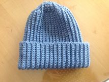 Crocheted hat Royalty Free Stock Image
