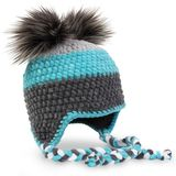 Crocheted hat on white royalty free stock image