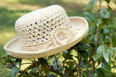 Crocheted Hat Outdoors Stock Photo