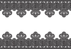 Crocheted lace frame Royalty Free Stock Images